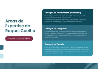 screenshot site doutora raquel coelho otorrino expertise