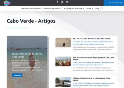 Screenshot Site Blog Viaje com Norma Artigos