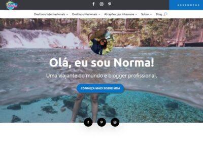 Screenshot Site Blog Viaje com Norma Sobre