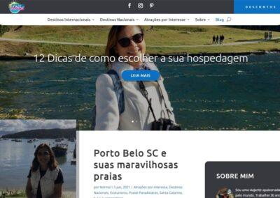 Screenshot Site Viaje com Norma Blog