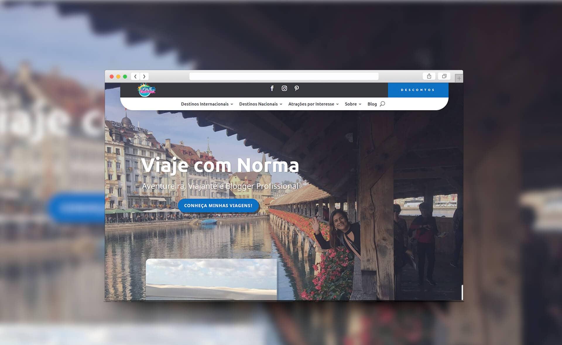 Mockup Site Viaje com Norma