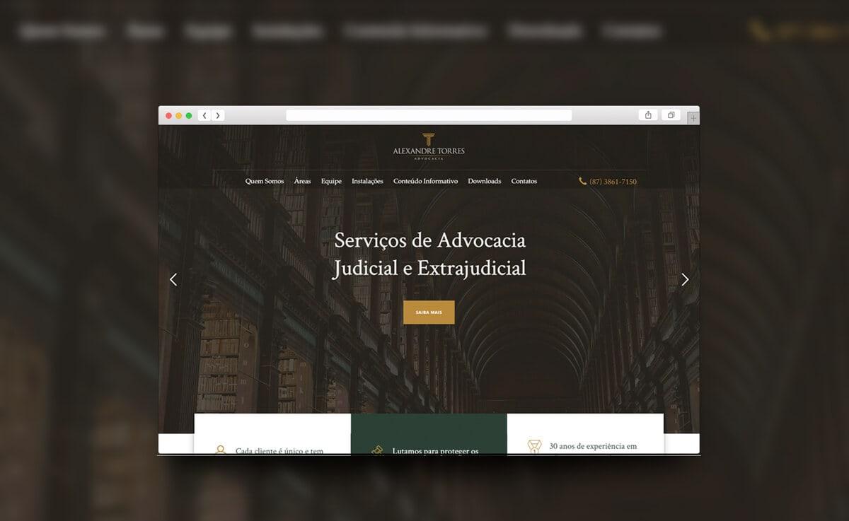 Mockup site alexandre torres advogados