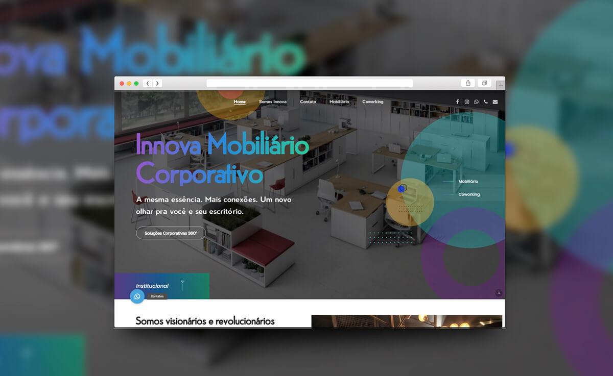 Mockup site Corporação Innova