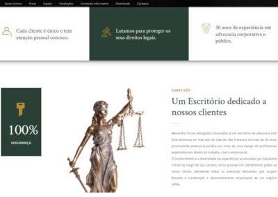 screenshot quem somos site alexandre torres advogados