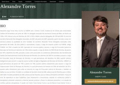 screenshot bio perfil site alexandre torres advogados