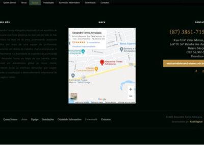 screenshot footer site alexandre torres advogados